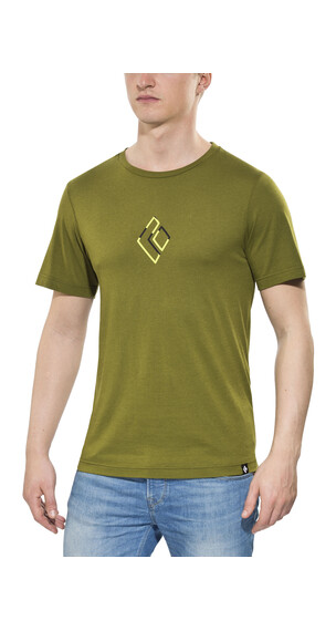 Black Diamond ID t-shirt Heren olijf